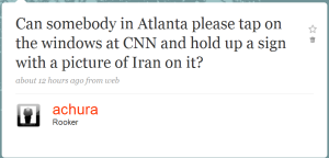 Somebody tap on CNN's window