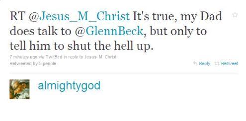 God retweets Jesus